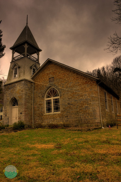 Five Mile Church<br /> I took this last month and just now decided to put together the photos after learning a bit about hdr.  Nothing fabolous but just learning and messing around here.