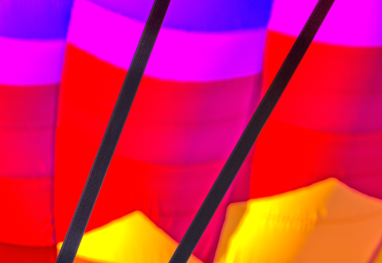 A close crop of a hot air balloon in Taos, New Mexico