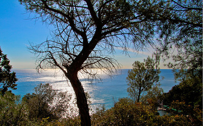 handheld shot of the Ligurian sea, in Varigotti, Liguria