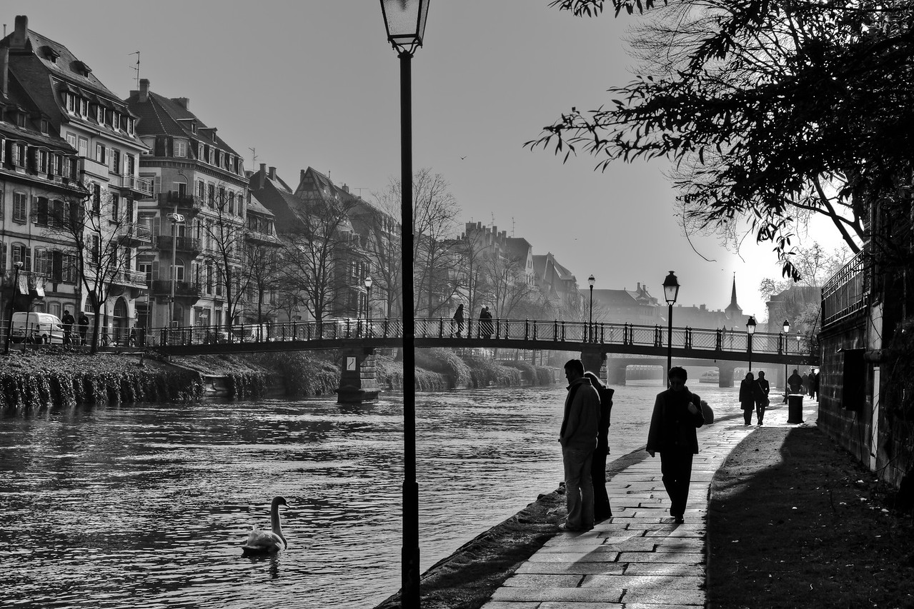 John O'Brien, a special friend, along a waterway in Strasbourg, FR