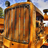 Old caterpillar tractor