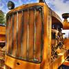 Old caterpillar tractor