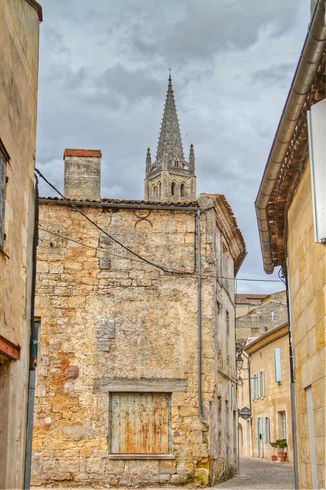 The tiny, ancient town of Saint-Émilion, with its narrow streets and beautiful atmosphere