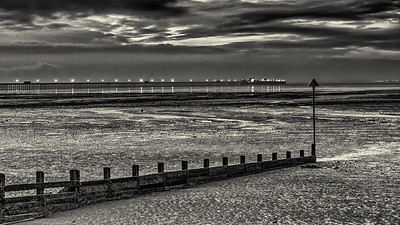 Tides out as I shoot at Southend Pier.