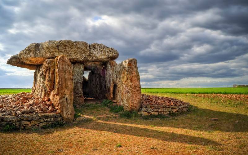 Dolmen, Taken south of Montreuil Bellay, France. Around 10,000 years old