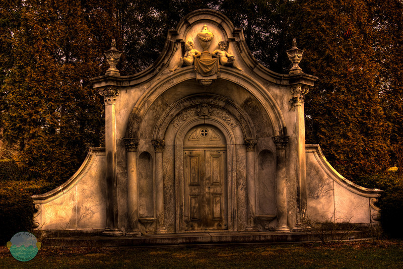Burnet Tomb<br /> What is a tomb, but looks like a doorway to Hell or to stairs that lead to your grave.