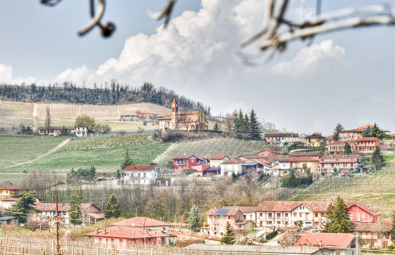 The tiny village of Santa Maria, in the commune of La Morra. Cru Nebbiolo, Barbera and Dolcetto surround this special land.