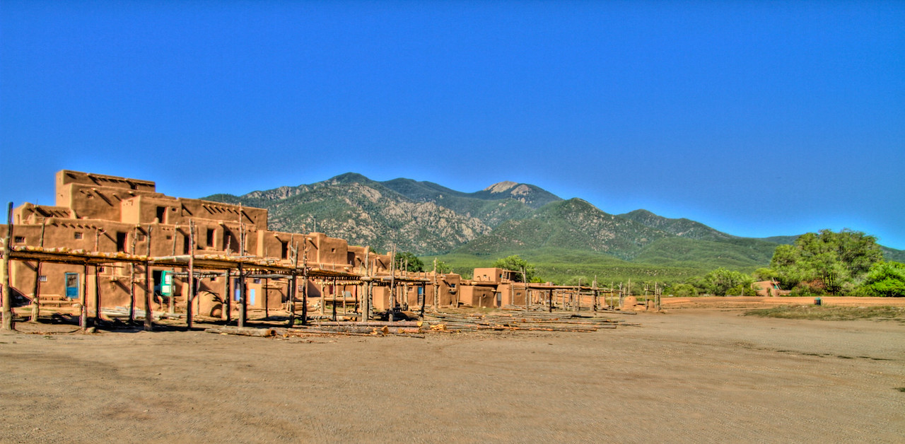 Taos Pueblo, a UNESCO site, in Taos, New Mexico