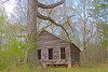 April 9, 2013-Fayette County, GA-Old school house on Harp Road.
