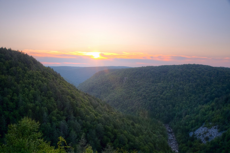 Canyon of the Blackwater River at Sunset (taken from the Lodge)