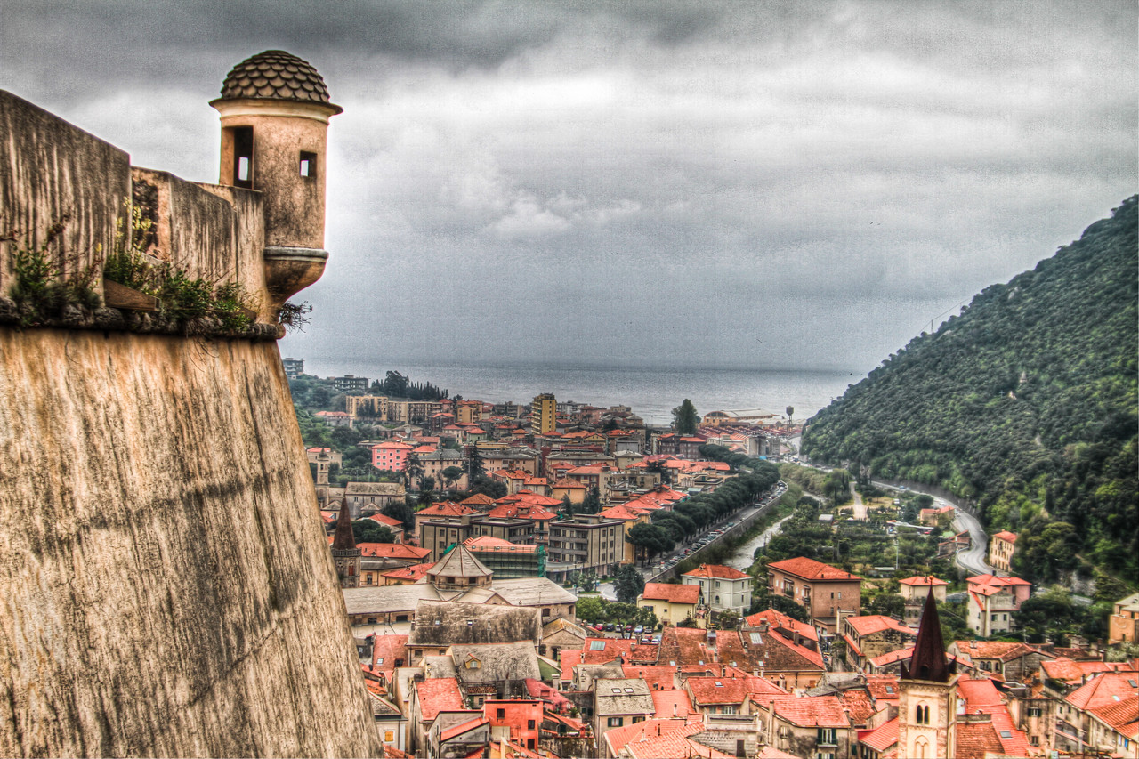 the view from the Castle at Verezzi, Liguria