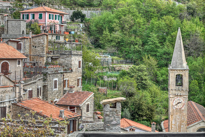 If you're lucky enough to visit the Liguria region in Italy, this is the view you'll have from Castelvecchio Di Rocca Barbena, a 12th century Castle and village. 3 exposure HDR, April 2011. The lighting on this day was dodgy at best.