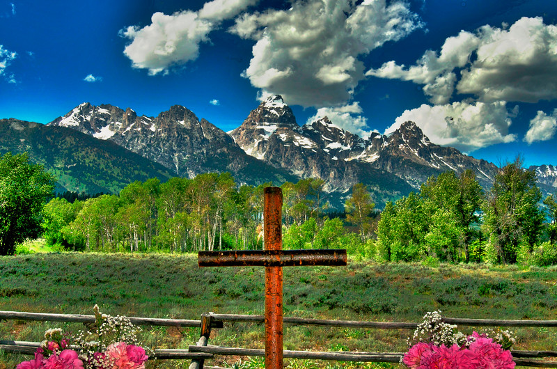 HDR from that little chapel in the Tetons....