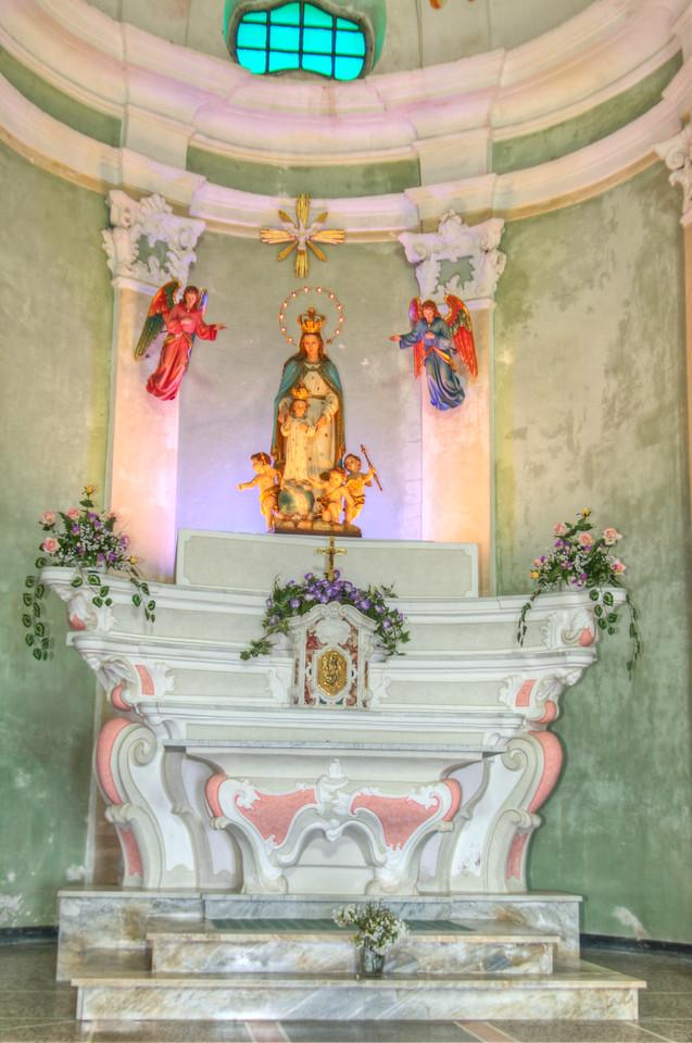 Verezzi-chiesa santa Maria Maddalena, Liguria, Italia