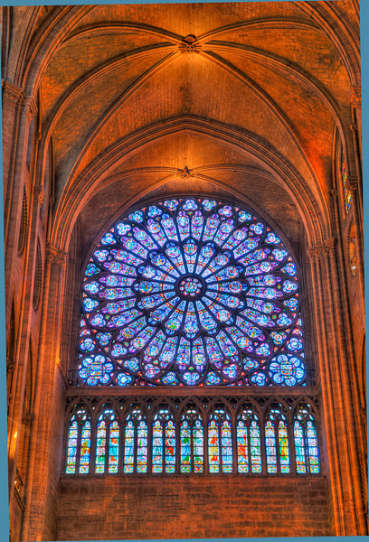 Rose window, Notre Dame, Paris, France