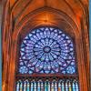 Rose window, Notre Dame, Paris, France