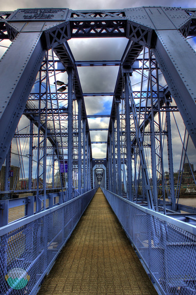 Never Ending<br /> Yet another HDR of the People Purple Bridge.  This one makes the bridge look like it never ends.