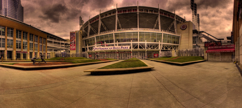 Great American Entrance<br /> An HDR rendition of my A Pano A Day picture of the Reds' Ballpark.