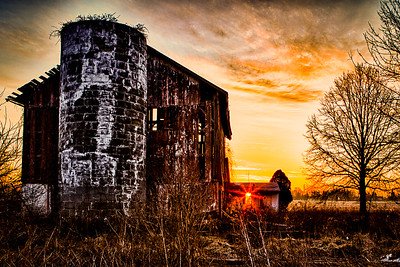 Sunrise in the Barn