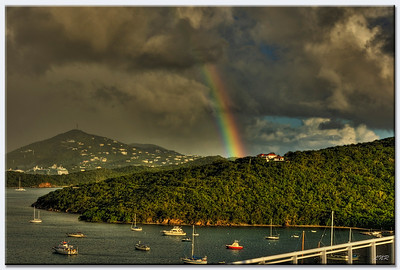 rainbow over ST. Thomas VI