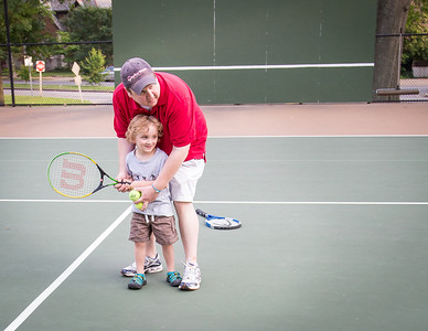 Teaching Jed to Play Tennis (1 of 1)