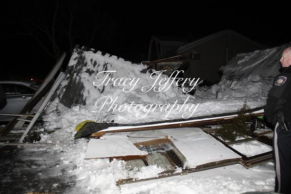 HFD Garage Collapse Evergreen St 2-14-14