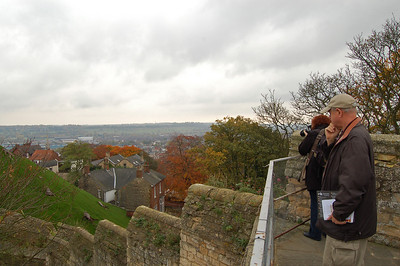On the castle walls