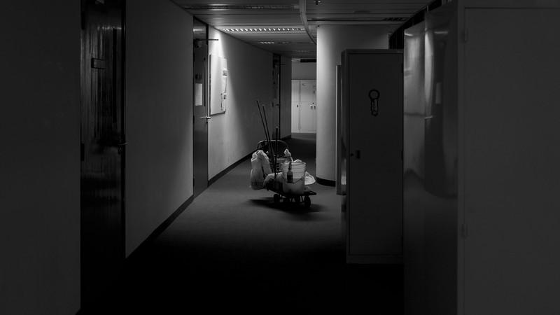 Corridor of academic building near Lift4, Aug 2013.