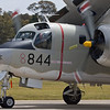 Grumman Tracker almost completely restored just did a short, fast taxi. Here with wings folded.