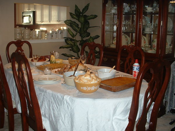 my dining room in Magnum House on Thanksgiving 2004