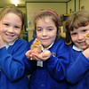 LtoR Lucy Williams 8, Hannah Wiles 8 and Amy Mallard 7 from Overton Primary School.
