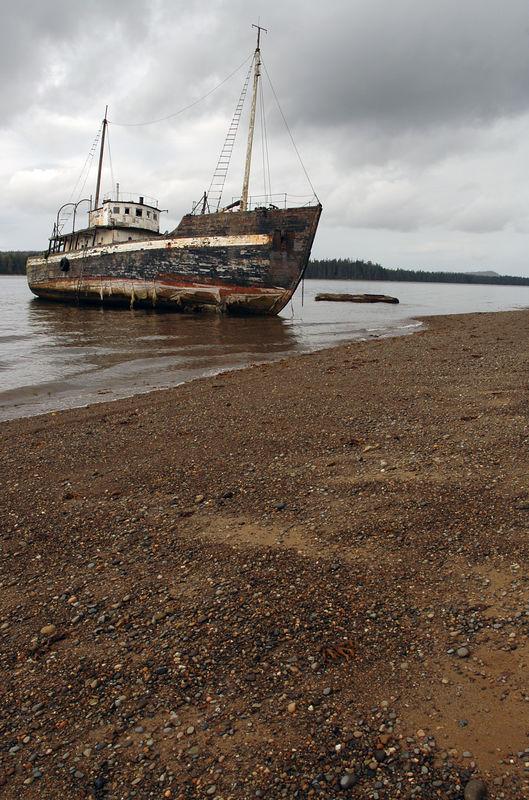 Abandoned ship - town of Masset