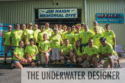 Volunteers gather each year to create the Jim Haigh Memorial Dive and to support SUDS.