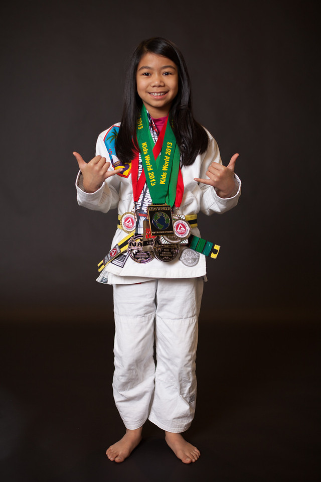 <h3> <font> <b> Jayda Macatangay, Federal Way, WA </b></font>  <br><br>My name is Jayda Ann Macatangay and I am 10 years old. I was born on the island of Guam and moved here right after my 1st birthday.   I started training Jiu Jitsu in 2011 and I love every second of it!  I am currently a yellow/black belt and earned that in May 2012 from Prof Kevin Smith and Prof Shawn Joseph.  I train with my Dad, brother and lots of family at Gracie Barra Federal Way.  I love to compete and always look forward to learning from these competitions.  I hope to show other kids, especially girls that Jiu Jitsu is for everyone.  My favorite Jiu jitsu practitioners are: Prof Fabiana Borges,  Mackenzie Dern, Tracey Goodell and Alyssa Wilson. <br><br>And my favorite mentors are my Coach/dad Jeff and Coach David Veloria. <br><br>  In May   I competed at the Sub League Qualifier 2 tournament and earned a silver medal.   I am looking forward to competing in NAGA in 2 weeks and my first IBJJF Pan Kids tournament in 2014. <br><br> Now that 2013 is officially over, I am excited for everything I will be able to do in 2014. In 2013 I was able to accomplish many goals. I competed in 9 tournaments this year. My first tournament in 2013 was the Ground Warrior Submission Challenge on January 26th. I got 4th place at that tournament which was in Portland, OR. I got 2nd place at Subleague qualifier 2 on May 4th. I placed double bronze at Seattle NAGA on May 18th. I also had the chance of competing in the Adamson bros. in- house tournament on April 27th. I earned a bronze medal at the Revolution on July 14th, one week later I competed at the Kids World tournament and earned a G0LD medal! On Sept. 7th I competed in the Oregon Open and earned a silver medal in a bracket of 4 kids. On Sept. 28th I earned three silver medals at Portland NAGA. 2013 has been a great year full achievements and goals. Now that 2014 has come I'm excited for everything that comes this year. I am especially excited to compete in 