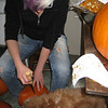 Fergus literally put his head in the pumpkin while Amanda was carving