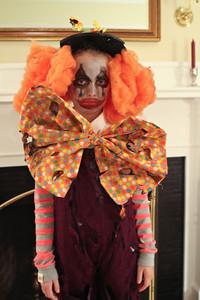 Lily as a dead clown...sans her nose