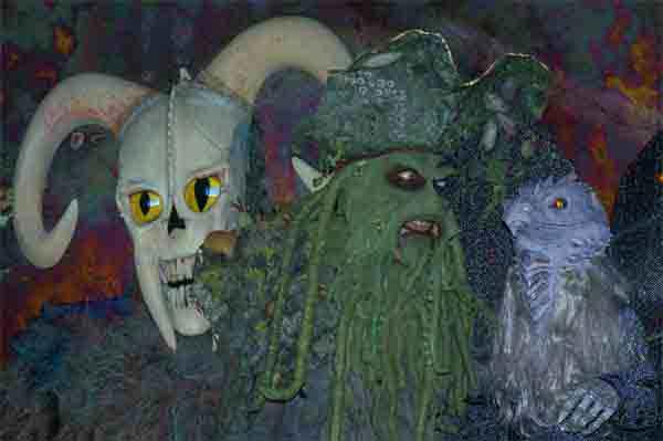 RAMSKULL, GREEN MAN & GRIFFIN