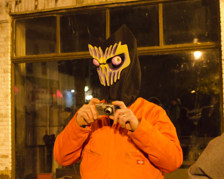 Halloween Halsted Street 2012 <br /> Halloween 2012 Alien Photographer DSC, 7464