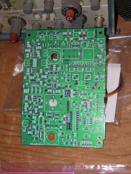 Front side of the MKARS 80 SSB circuit board.