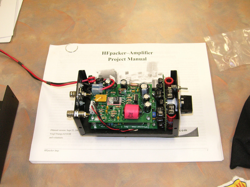 An HFpacker Amp.  2.5 watts in,  20-40 watts out from 160M to 10 Meters.