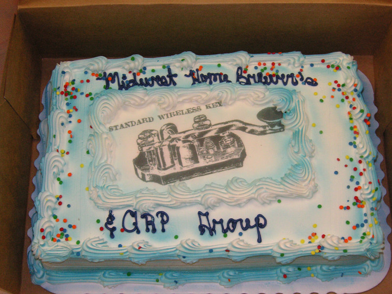 The Midwest Homebrewer and QRP group 2nd aniv. cake!  Nov '2006<br />    Way to go!