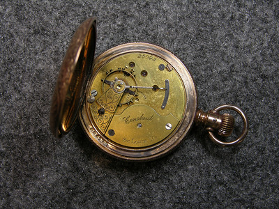 11 Jewel movement, SN 25093,                 manufactured from 1896 to 1901               total production 250
