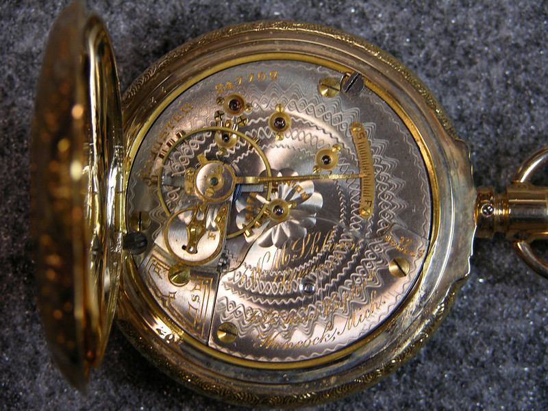 927 movement, SN 247702                        17 jewels, manufactured 1900-1910          total production 45,781