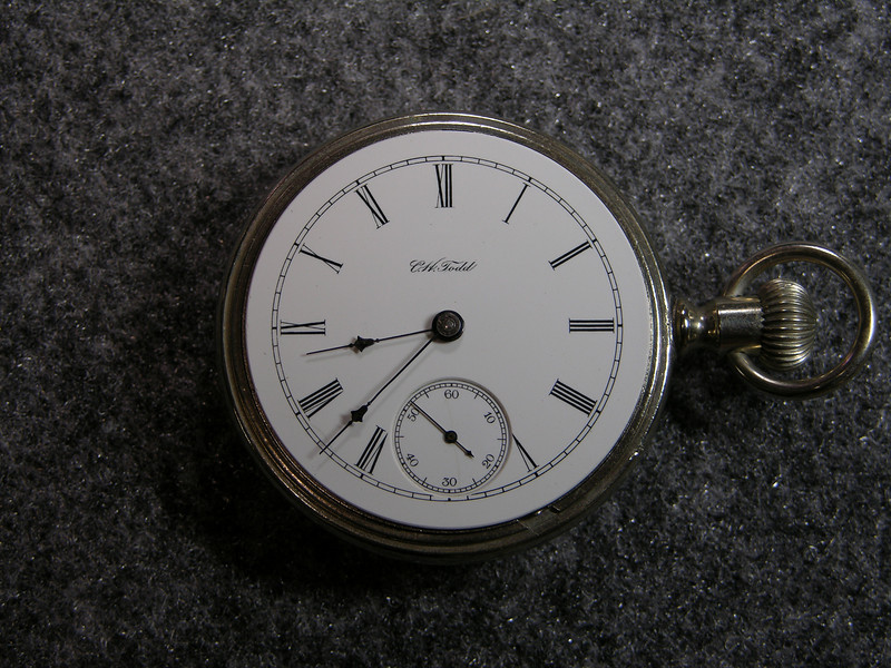 "929 dial, Superb Porcelain Dial Private Label Marked "" C. H. Todd ""."