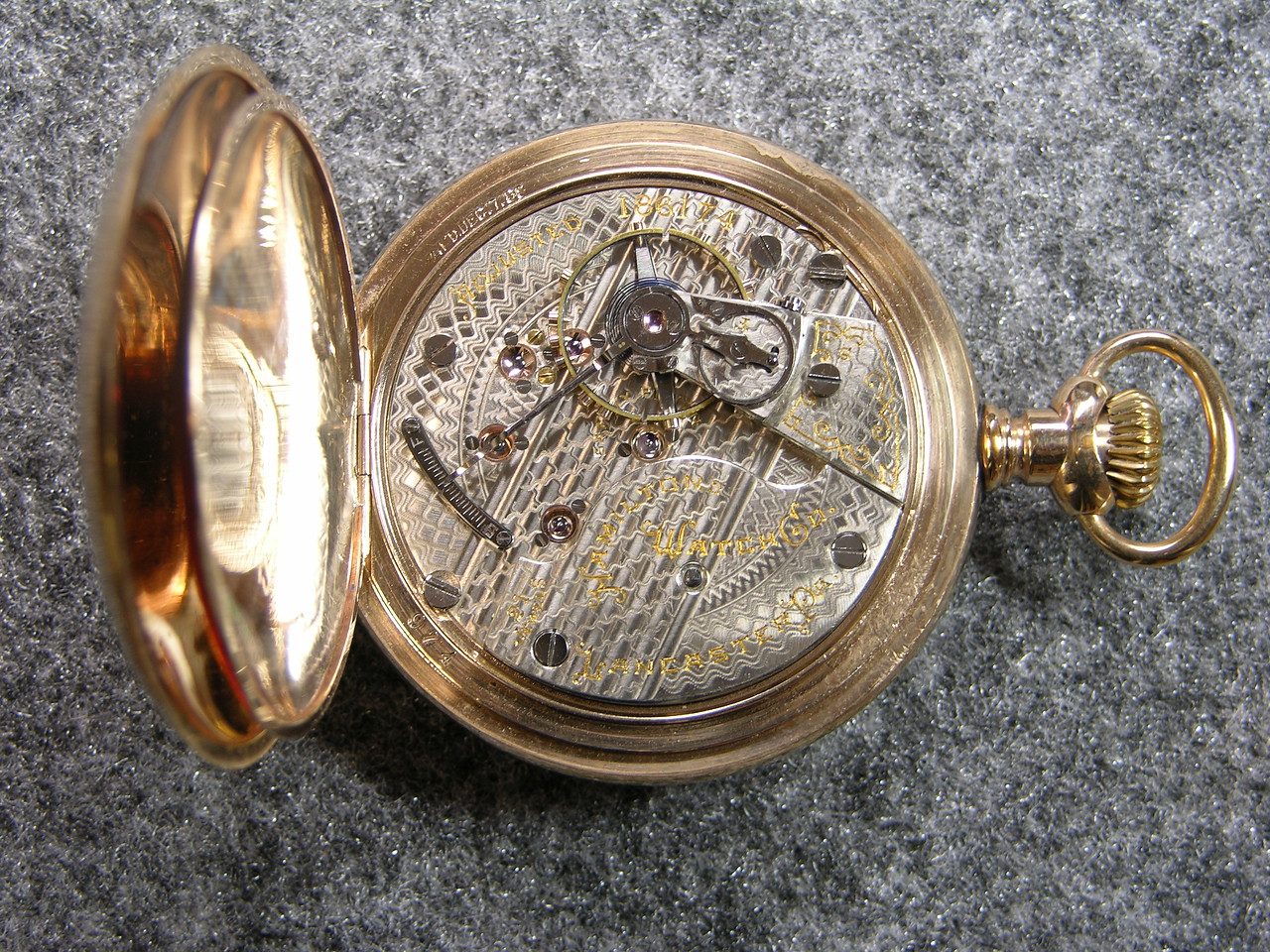 942 dial, SN 186174                                    21 Jewels, manufactured 1900-1914         total production 5,418