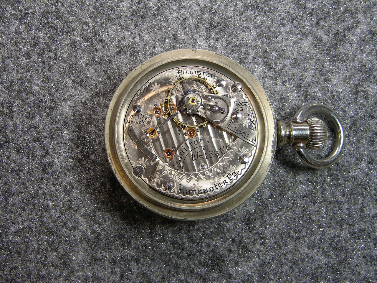 934 movement, 17 jewels                           manufactured 1900-1909                           total production 3,310
