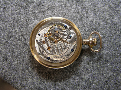 930 movement, SN 18617                          17 jewels, manufactured 1895-1899          total production 4,200