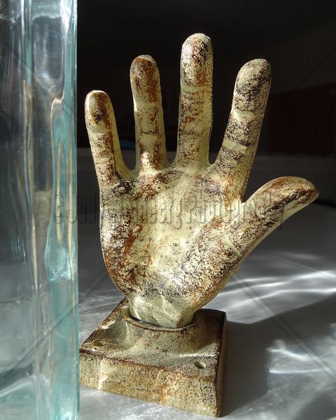 Hand, Glass, Light