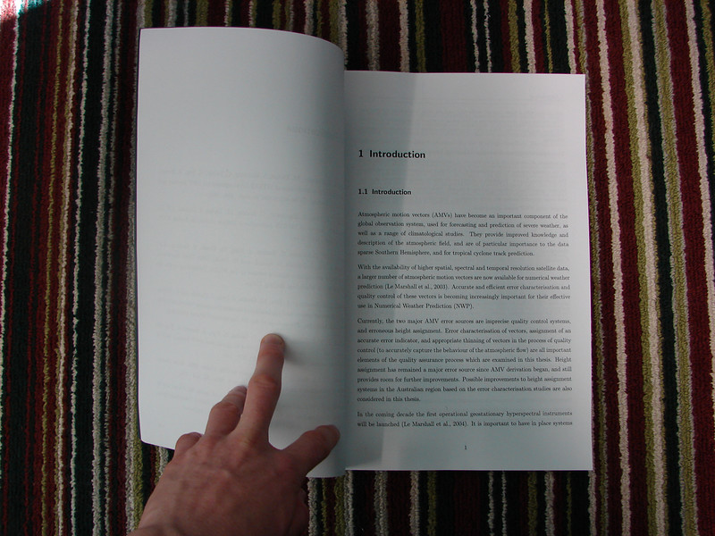 We acquired an early copy of the thesis before its global release date, and released the whole thing on the internet via a collection of photos taken of every single page.