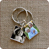<b>Square Keychain $110</b>  These silver-plated keychains are a great way to carry loved ones with you to the gym, pool, or any other place where your jewelry isn't exactly practical. The square keychain image measures 1 inch and comes attached to a solid high-quality split key ring.